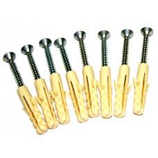 Дюбель и шуруп для бетонной стены (диаметр 8 мм, глубина 40 мм, 8 штук) для GSR1 1220 мм